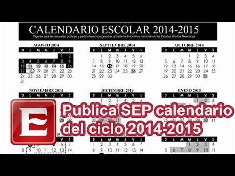 Publica SEP calendario escolar 2014-2015