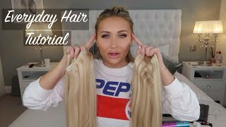 EVERYDAY HAIR TUTORIAL | BEAUTY WORKS CLIP IN EXTENSIONS