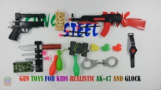Gun Toys For Kids Playing - Ak47 And Black Glock Toys For Kids