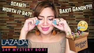 249 Php LAZADA MYSTERY BOX UNBOXING | STEPHANIE ANNE