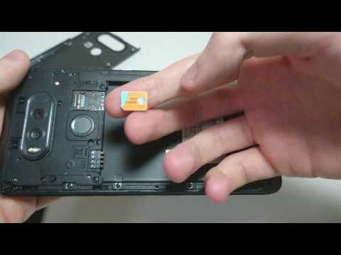 LG V20 How To Insert/Remove SIM Card, Micro SD Card Or Battery
