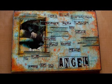 Mixed Media Art Journal Page - In The Arms Of An Angel video