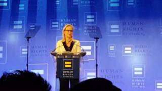HRC Gala Meryl Streep accepts Ally Award NYC 2017