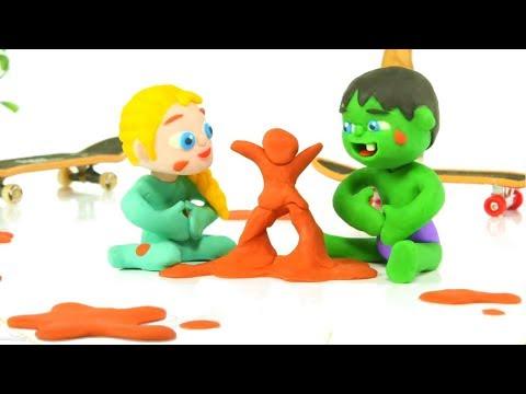 SUPERHERO BABIES PLAY OUTSIDE ❤ Superhero Babies Play Doh Cartoons For Kids
