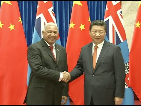 Chinese President Xi Jinping Meets with Fiji PM