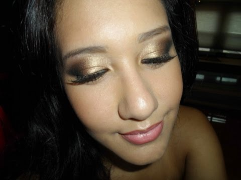 MAKEUP | Hooded Eyes| Easy Gold/Bronze Smokey Eye