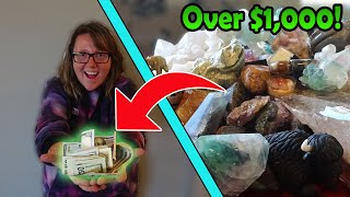 Selling The GEMS AND JEWELS! How Much MONEY?! I Bought An Abandoned Storage Unit! Making Money!