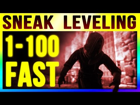 Skyrim Special Edition Level 100 Sneak FAST by LEVEL 1 (Fastest Starter Levelling Guide Remastered)!