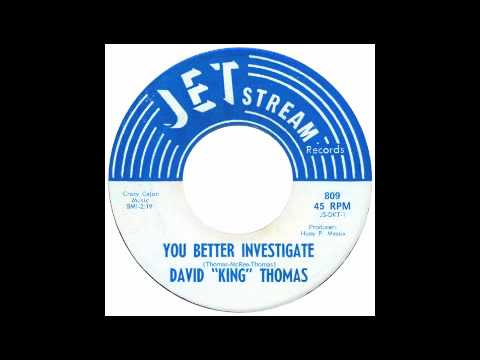 northern soul - david king thomas - you better investigate jetstream