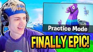 """NINJA REACTS *NEW* """"PRACTICE MODE"""" IN FORTNITE! - EPIC & FUNNY Moments"""
