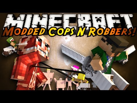 Minecraft Mini Game : MODDED COPS N ROBBERS ATTACK ON TITAN