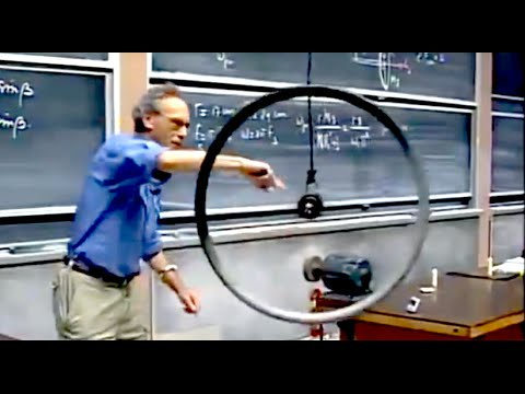 8.01x - Lect 24 - Rolling Motion, Gyroscopes, VERY NON-INTUITIVE