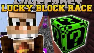 Minecraft: DONKEY KONG'S CRAZY LUCKY BLOCK RACE - Lucky Block Mod - Modded Mini-Game
