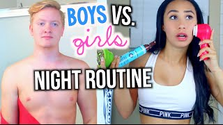 Night Routine Guys Vs. Girls