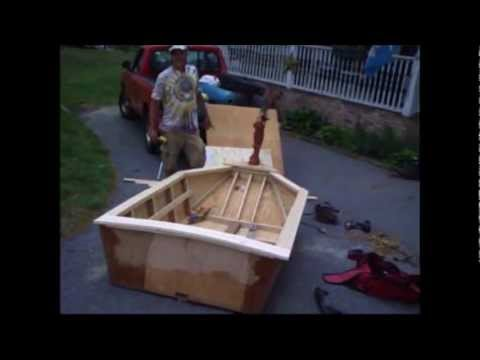 Home Made Boat 3 Sheets Of Plywood 2 Tubes Of Liquid Nails