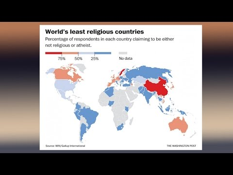 Study : What Are Most & Least Religious Countries?