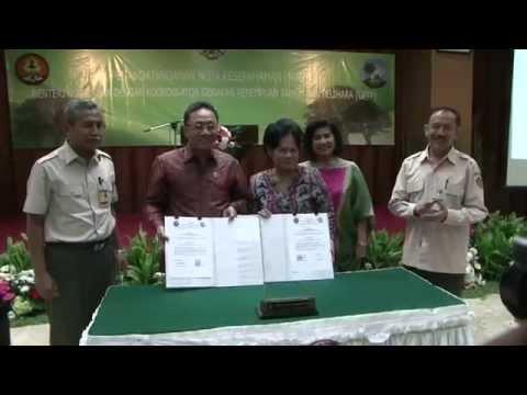 MoU Menhut dengan Koordinator GPTP, Manggala Wanabakti 12052013