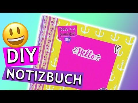 Plusch Einhorn Notizbuch Diy Basteln Fur Die Schule Mit Papier