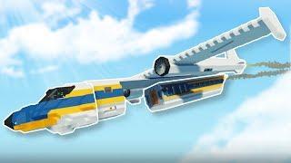 PLANE SPLITS IN EMERGENCY! - Stormworks Multiplayer Gameplay - Plane Survival