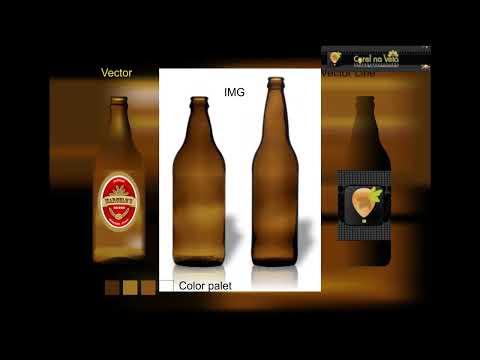CorelDraw X6 Preenchimento de Malha - Time Lapse - Garrafa de Cerveja