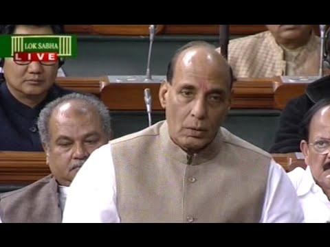 BJP Isolate From Mufti Sayeed's Remark : Rajnath Singh in Parliament