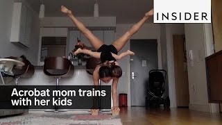 The acrobat mom
