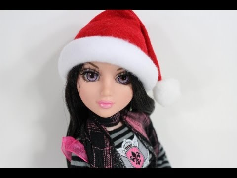 How to Make a Doll Santa Hat