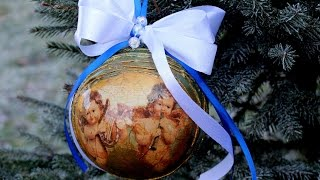 Decoupage #Orginalna bombka #Tutorial DIY
