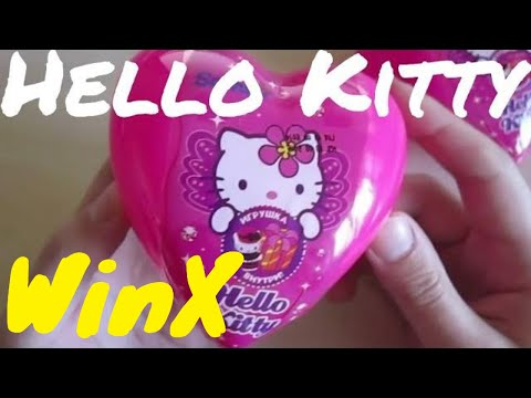 How I broke 2 Hello Kitty hearts... and one WinX. Sanrio licensed toys unboxing. ハローキティ