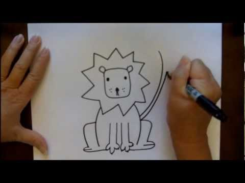 Lion Drawing Tutorial How to Draw a Cartoon Lion