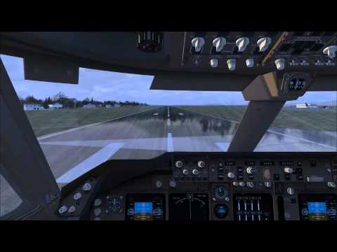 Cockpit 747-8 Malaysia Airlines Nagasaki Take Off and Crash
