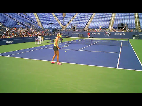 Maria Sharapova practicing US open VID01026