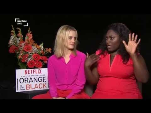 Taylor Schilling & Danielle Brooks on Twitter, underwear and fish and chips
