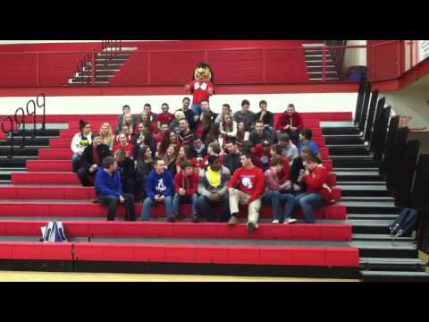 The Wig Wam Pep Club at Adair County High School does the Harlem Shake.