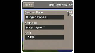 Minecraft pe 0.8.1 Hunger Games server cz