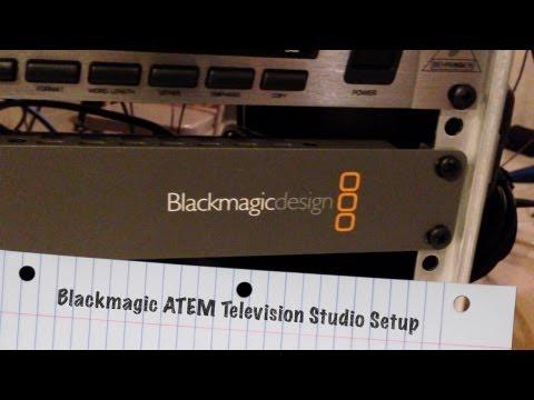 My Blackmagic ATEM Television Studio Setup - BlackmagicDesign