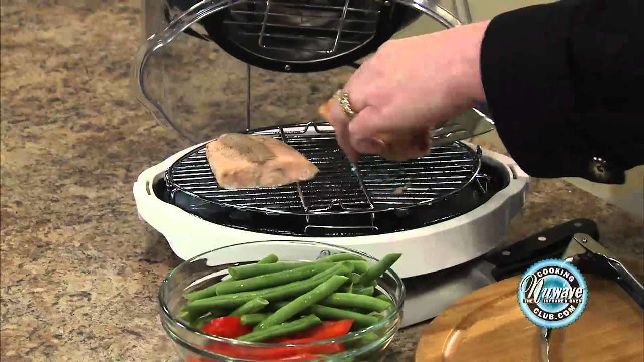 How to prepare frozen fish in the nuwave mini oven youtube for How to grill fish in oven