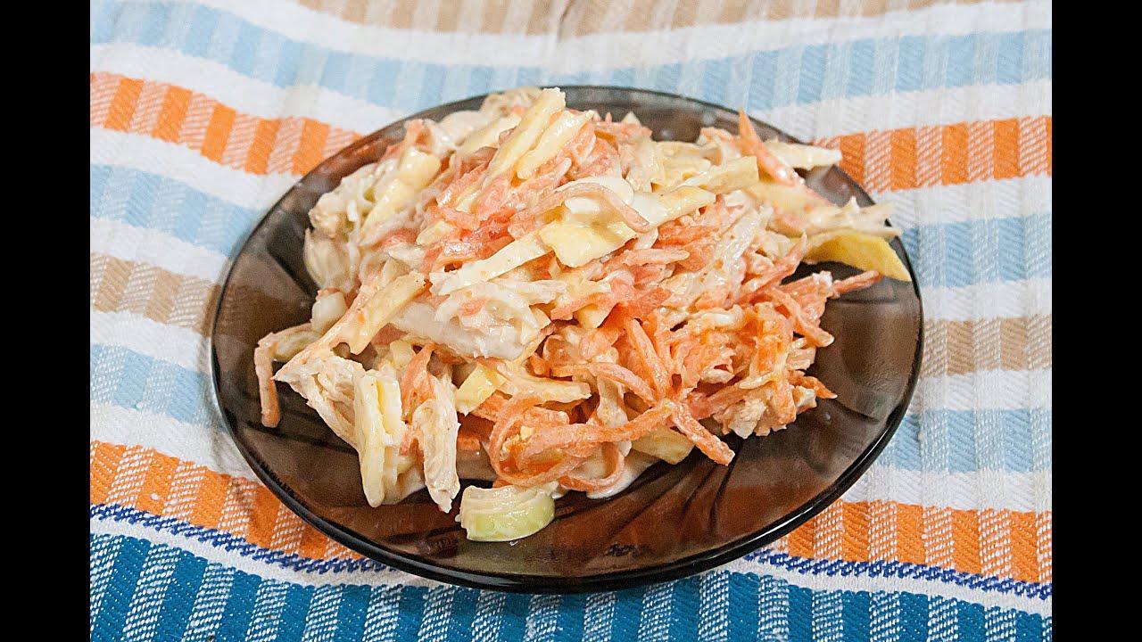 Салаты с омлетом и ветчиной рецепты пошагово
