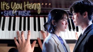 It's You Piano Henry While You Were Sleeping OST 2 당신이 잠든 사이에 피아노 커버 Cover Tutorial Sheet Music