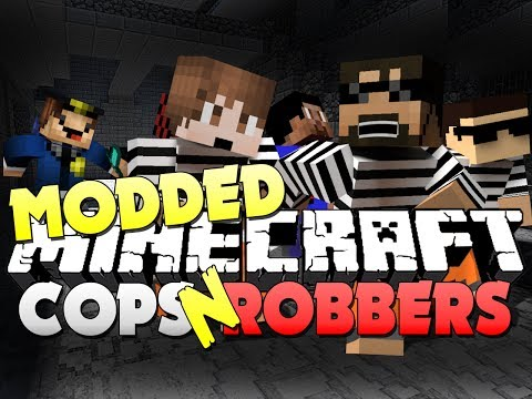 Minecraft Cops and Robbers 9 - SMART MOVING MOD (Bodil40, Mitch, Vikk and Woofless)