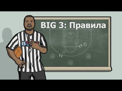 BIG3 Правила игры на русском.Лучший баскетбол 3х3 легендами НБА с четырехочковым броском от Ice Cube