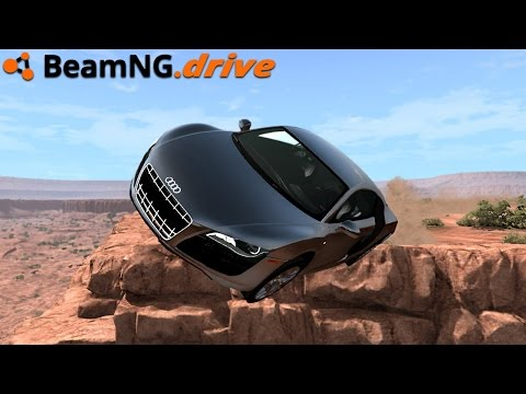 BeamNG.drive - AUDI R8 V10 CRASH