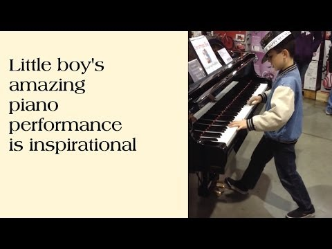 Little boy's amazing piano performance is inspirational