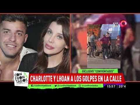 Charlotte Caniggia y Lhoan a los golpes en la calle