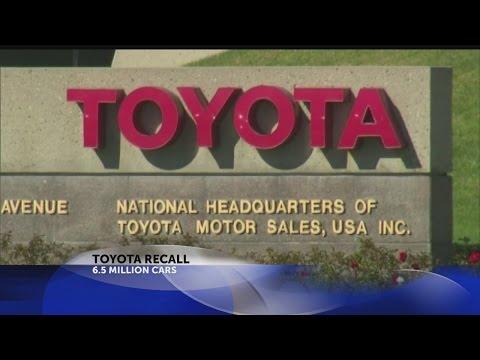 Toyota recalls 6.5 million vehicles for window switch defect