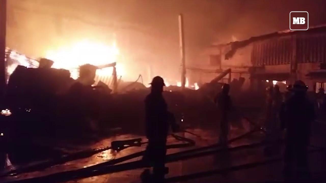 Ongoing fire in Barangay Paknaan, Mandaue City