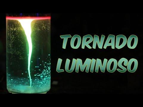 Como fazer um tornado luminoso (experiência de Química e Física)