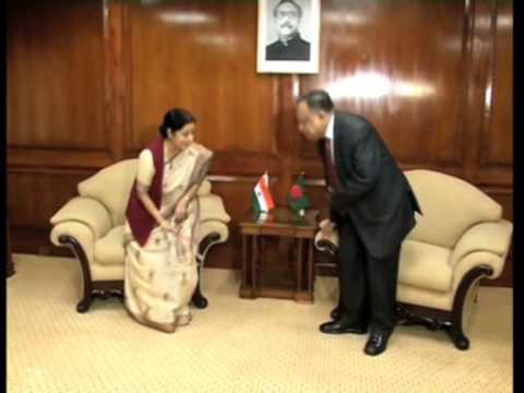 Indian foreign minister meets Bangladesh PM, holds talks with counterpart in Dhaka