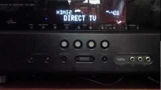 YAMAHA RX-V671 3D RECEIVER REVIEW HDMI AUDIO VIDEO PASS THROUGH ARC RETURN DIRECT TV