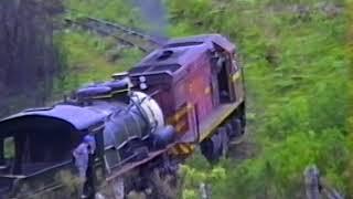 Viagem locomotiva 160 na Ferrovia do Contestado - SC - 1994 - (Brasil) - imagens raras recuperadas